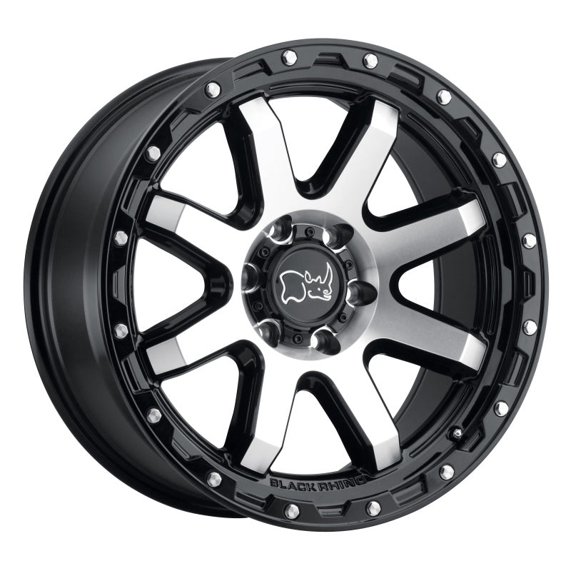 Black Rhino Coyote 18x9.0 8x170 ET06 CB 125.1 Gloss Black w/Machined Face & Stainless Bolts Wheel