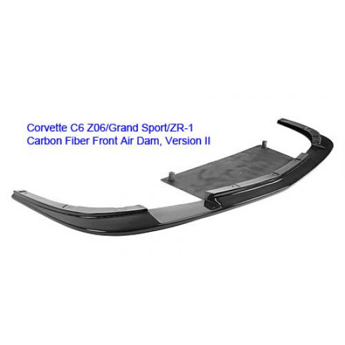 APR Carbon Fiber Front Air Dam 2005-up Chevrolet Corvette/C6 ZO6,Grand Sport and ZR-1 ONLY Version II
