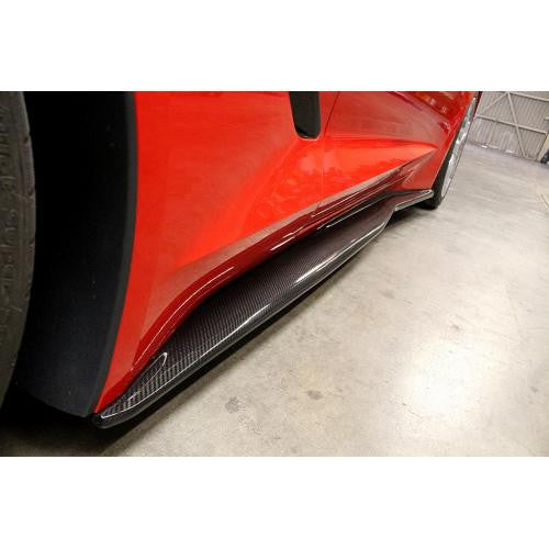 APR Carbon Fiber Side Rocker Extension 2014-up Chevrolet Corvette C7