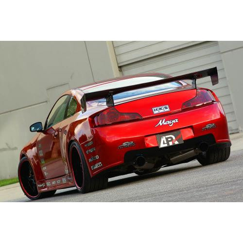 "APR GTC-300 2003-2007 Infiniti G35 Coupe Carbon Fiber Adjustable Wing 61"" Airfoils"