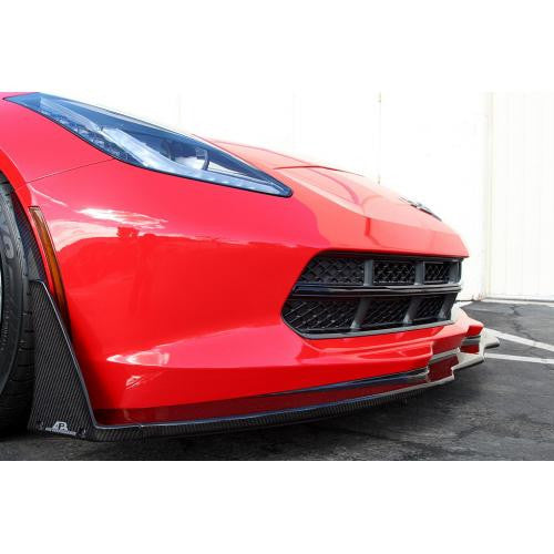 APR Carbon Fiber Bumper Spats 2014-up Chevrolet Corvette C7 (For APR C7 Airdam Only)