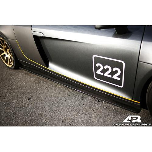 APR Carbon Fiber Side Rocker Extension 2006-2015 Audi R8