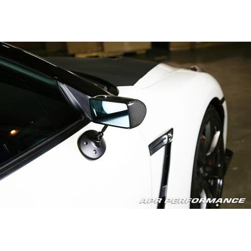 Carbon Fiber 2009-up Nissan GT-R R35 Formula 3 Mirror Black