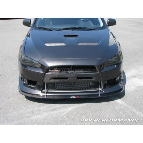 APR Carbon Fiber Wind Splitter 2008-up Mitsubishi Evo 10 (With Factory Aero Lip)