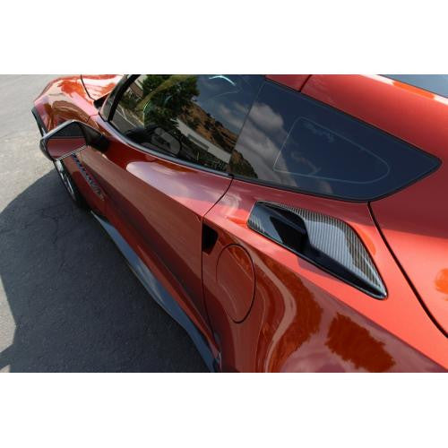 2015-up Chevrolet Corvette C7 Z06 / Stingray / Grand Sport Carbon Fiber Quarter Panel Intake Vents