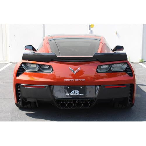 APR Carbon Fiber Rear Deck Spoiler 2015-up Chevrolet Corvette C7 Z06 Track Pack Without APR Wickerbill