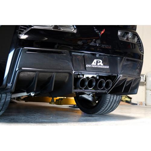 APR Carbon Fiber 2014-up Chevy Corvette C7 Z06 (without Undertray) Rear Diffuser Version II