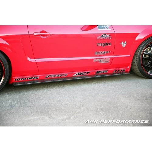 Carbon Fiber Side Rocker Extension 2005-2009 Ford Mustang