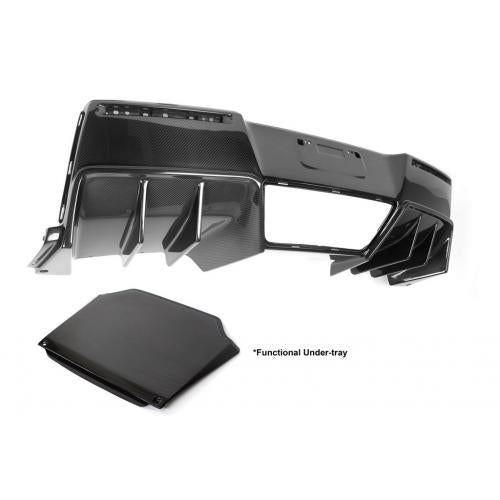 APR Carbon Fiber 2014-up Chevy Corvette C7 Z06 (with Undertray) Rear Diffuser Version II