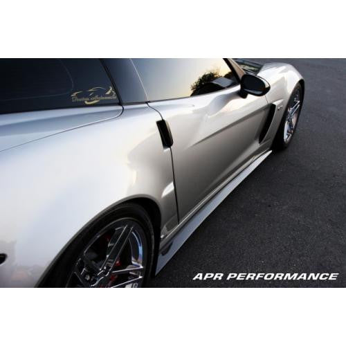 APR Carbon Fiber Side Rocker Extension 2005-2013 Chevrolet Corvette C6 Z06 (Z06 ONLY)
