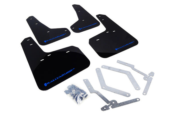 Rally Armor 2012-17 Ford Focus, ST & 2016+ RS Mud Flap Light Blue Logo