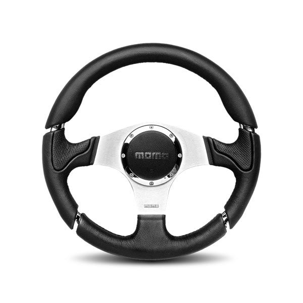 Momo Millenium Black With Polish Spokes Steering Wheel 350mm