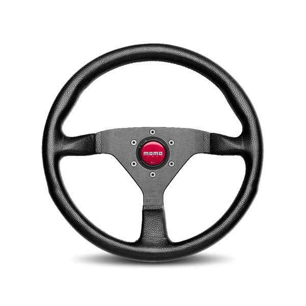 Momo Monte Carlo With Red Stitching Steering Wheel 350mm