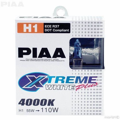 PIAA XTreme White Plus Twin Pack Halogen Bulb H1 55W