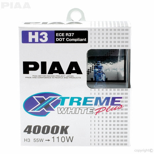 PIAA XTreme White Plus Twin Pack Halogen Bulb H3 55W