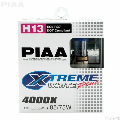 PIAA XTreme White Plus Twin Pack Halogen Bulb H13 60/55W
