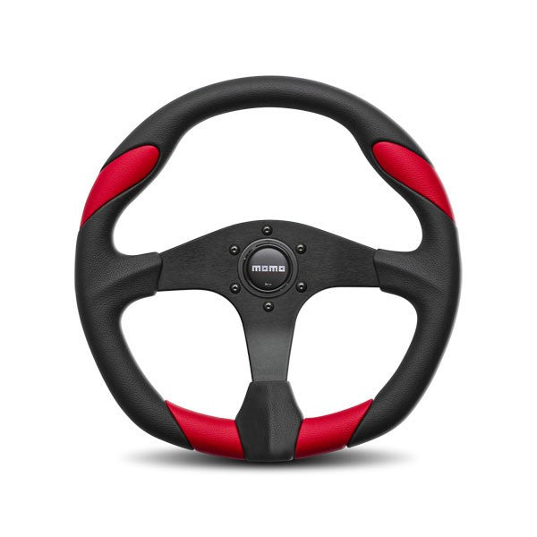 Momo Quark Black/Red Steering Wheel 350mm