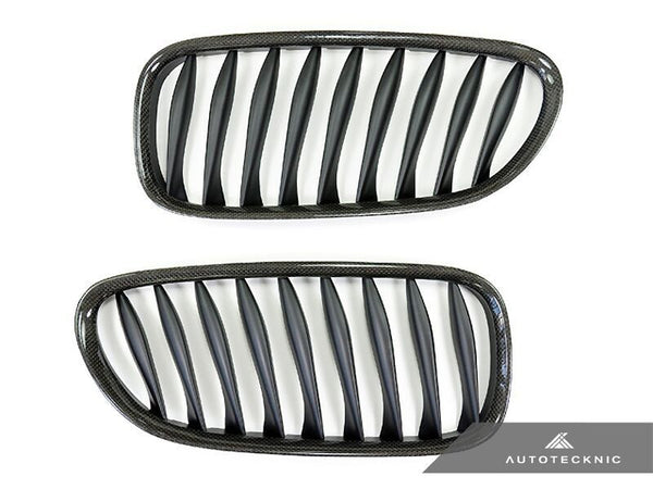 AutoTecknic Replacement Carbon Fiber Front Grilles BMW E85 Coupe / E86 Cabrio | Z4 Series including Z4M