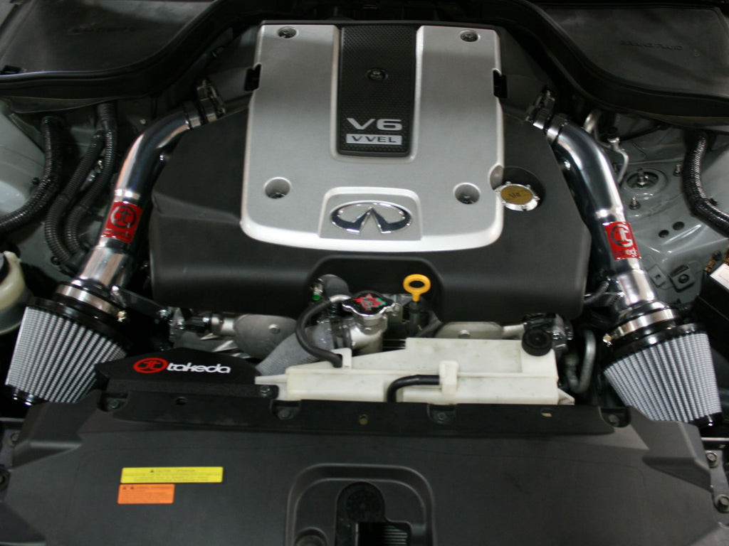 Takeda Stage 2 Dry Retain Short Ram Air Intake 2008-13 Infiniti G37 Coupe / 2014-up Q60 V6 3.7L
