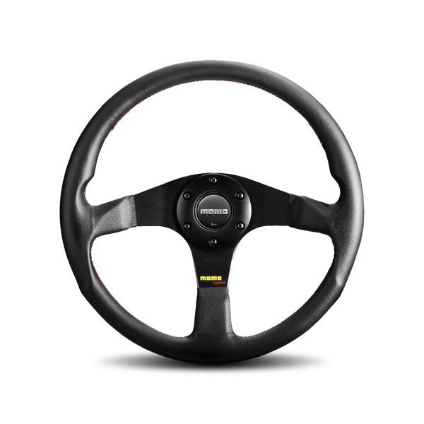 Momo Tuner Black With Red Stitching Steering Wheel 350mm