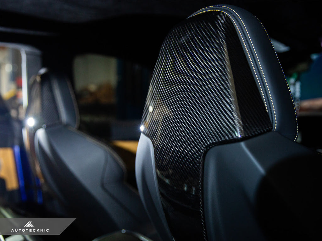 AutoTecknic Dry Carbon Seat Back Cover - F91/ F92/ F93 M8