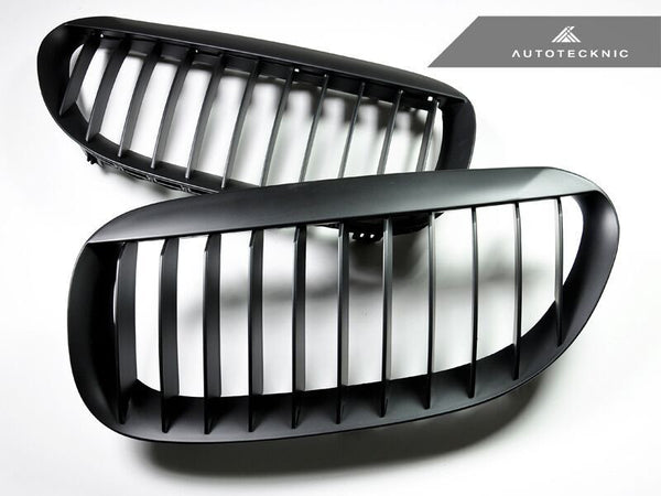 Autotecknic Replacement Stealth Black Front Grilles BMW E63 Coupe / E64 Cabrio | 6 Series & M6