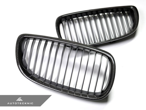 AutoTecknic Replacement Carbon Fiber Front Grilles BMW E92/ E93 3-Series Coupe/ Cabrio (including E9X M3)