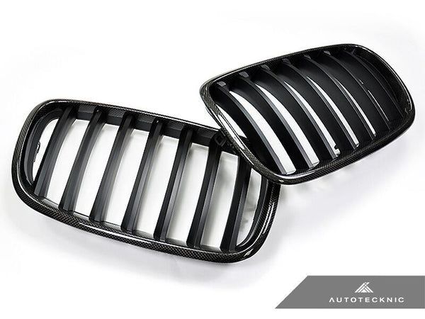 AutoTecknic Replacement Carbon Fiber Front Grilles BMW E92 Coupe / E93 Cabrio | 3 Series LCI
