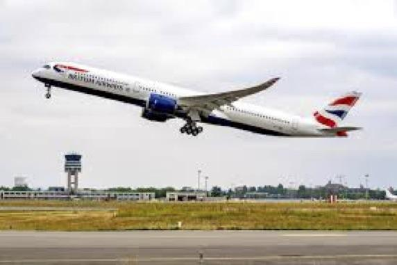 British Airways' new A350 (G-XWBA) just went tech.