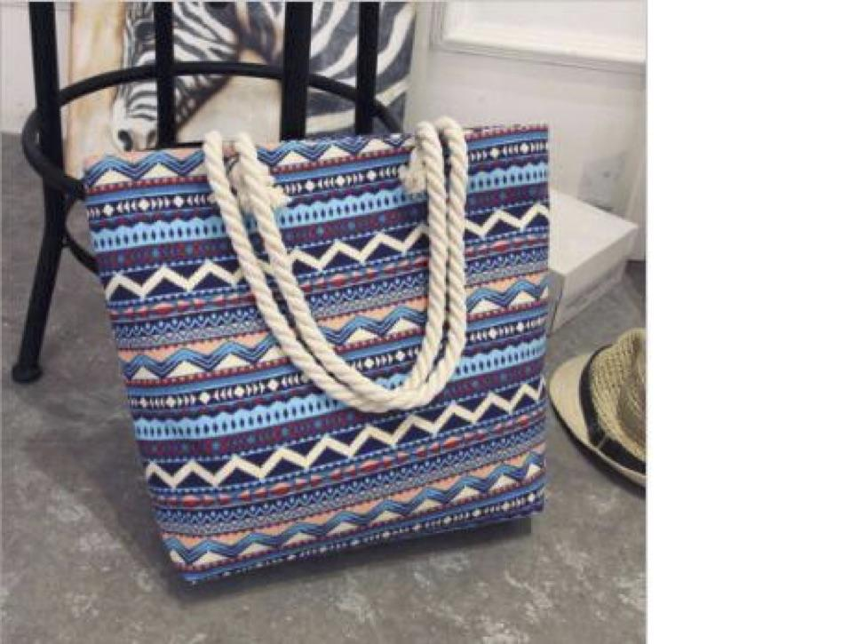 Fashion Folding Women Big Size Handbag Tote Ladies Casual Flower Printing Canvas