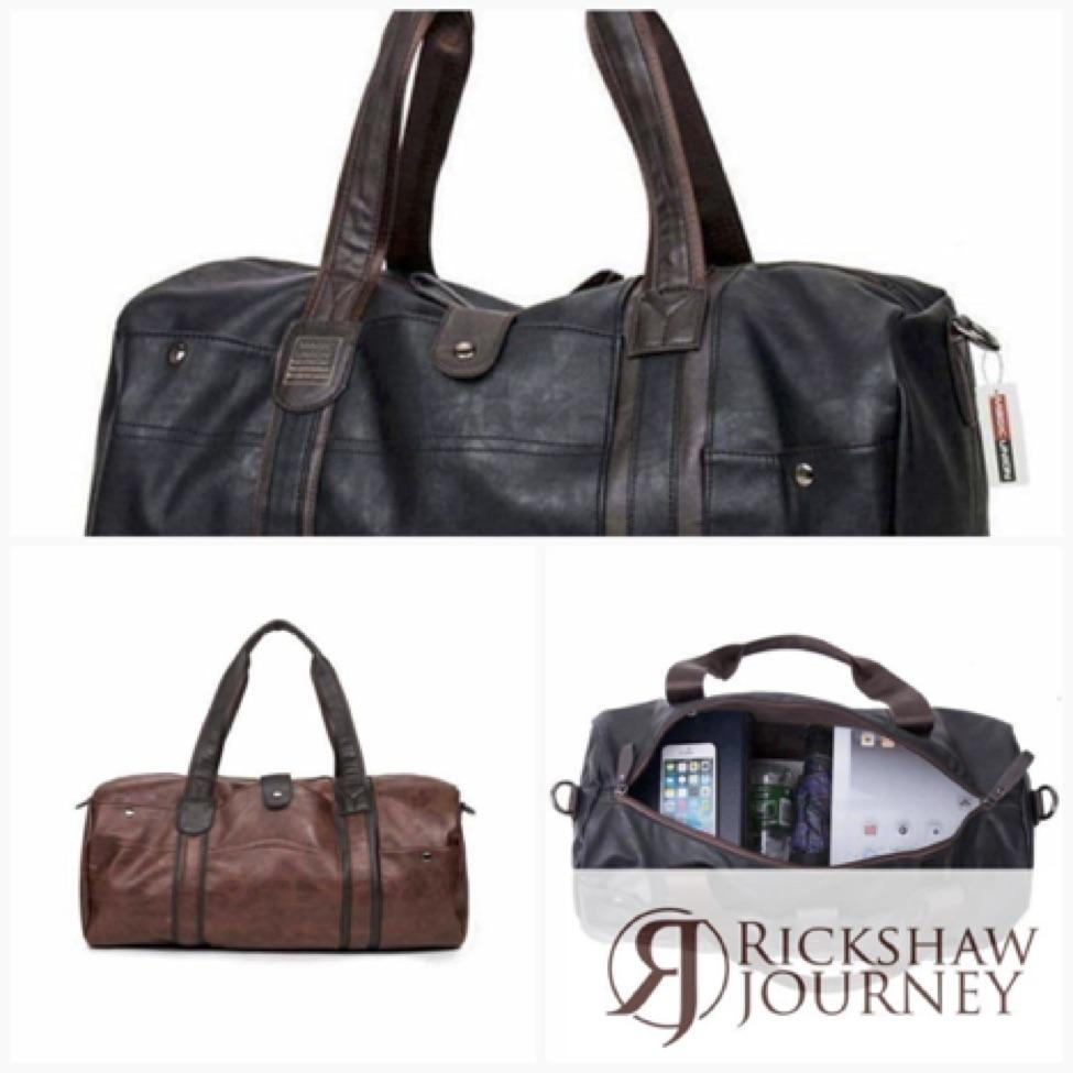 MAGIC UNION Travel bag PU leather for just $39.99.