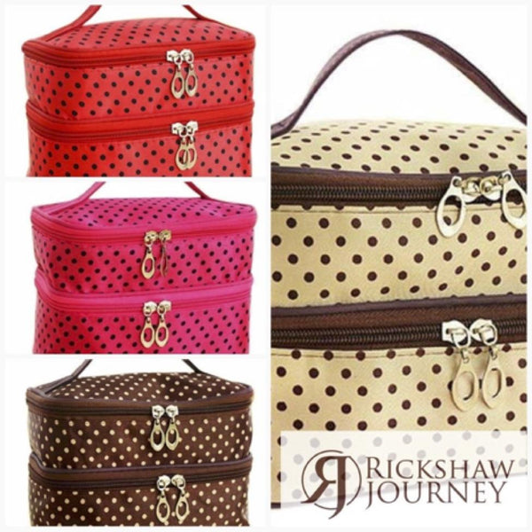 Necessaire Toiletry Beauty Vanity Travel And Toiletry Kit for just $17.99. | Rickshaw Journey