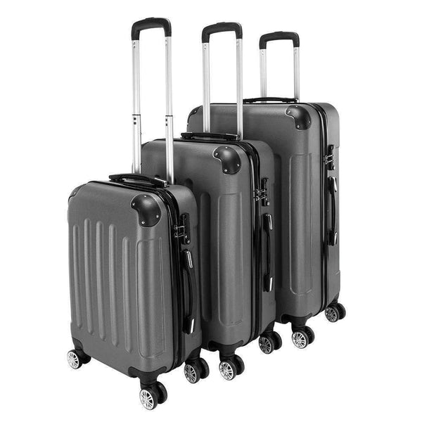 "3Pcs 20"" 24"" 28"" Luggage Travel Set Bag TSA Lock ABS Trolley Spinner Carry On Suitcase - Rickshaw Journey"