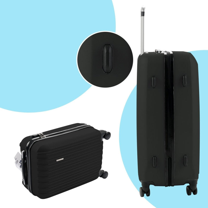 3PCS/4PCS Luggage Travel Set Bag ABS Trolley 360° Spinner Carry On Suitcase with TSA Lock - Rickshaw Journey