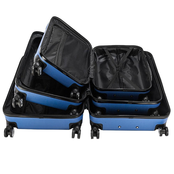 6 Colors 3 Pieces Travel Luggage Set Bag ABS Trolley Carry On Suitcase TSA Lock - Rickshaw Journey
