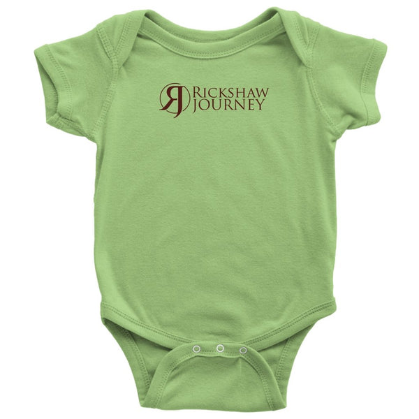 Baby Bodysuit - Onesie with Rickshaw Journey logo - Rickshaw Journey