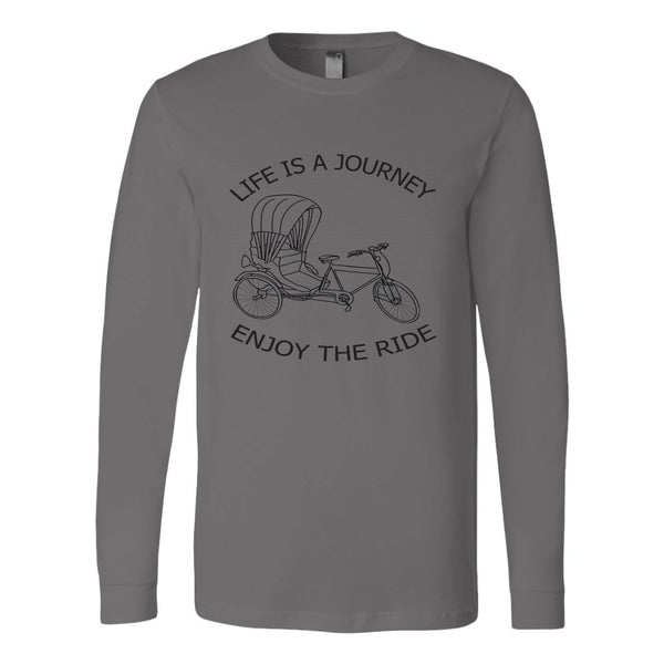Canvas Long Sleeve Shirt Life is a Journey Enjoy the Ride - Rickshaw Journey