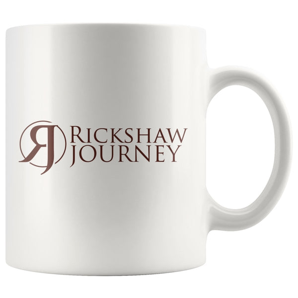 Coffee Mug with Rickshaw Journey logo - Rickshaw Journey