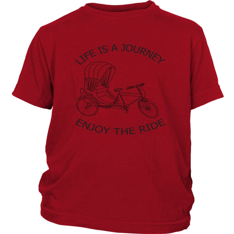District Youth Shirt Life is a Journey Enjoy the Ride - Rickshaw Journey