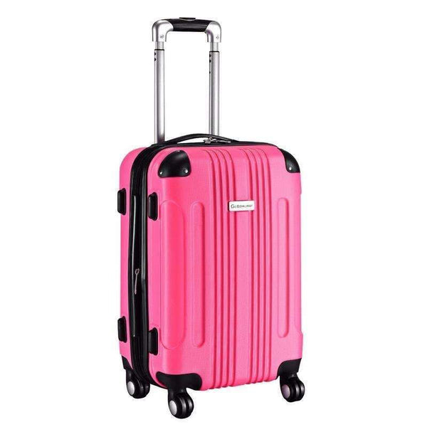 "Expandable 20"" ABS Luggage Carry on Travel Bag Trolley Suitcase New - Rickshaw Journey"