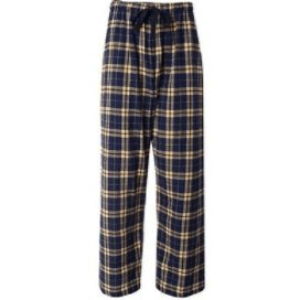 Flannel pajama pants mens, Navy/Gold, Small - Rickshaw Journey