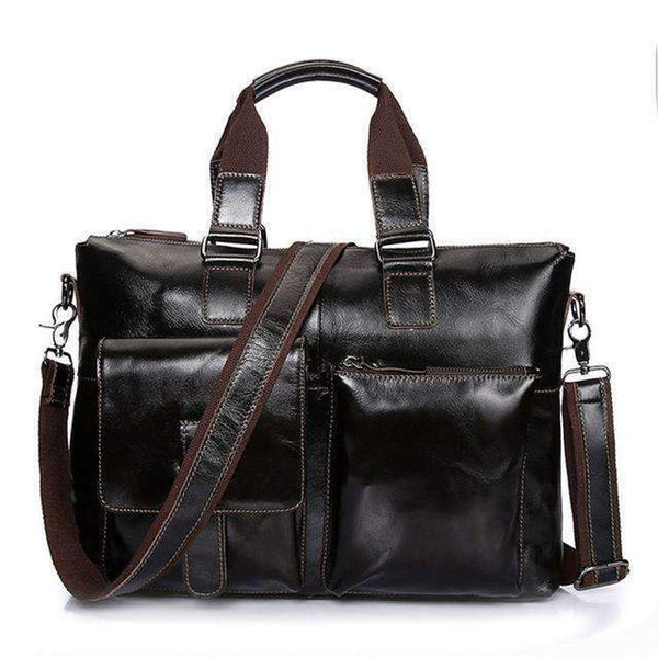 Leather briefcase bags - Rickshaw Journey