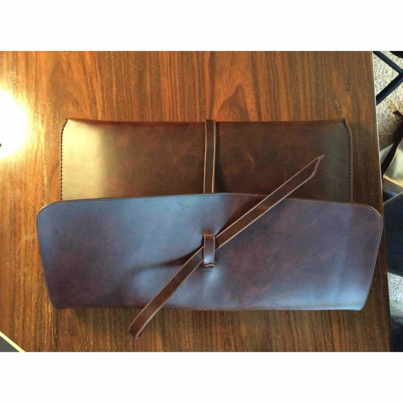 Mens leather pouch wallet 12 inches by 7 1|2 inches - Rickshaw Journey
