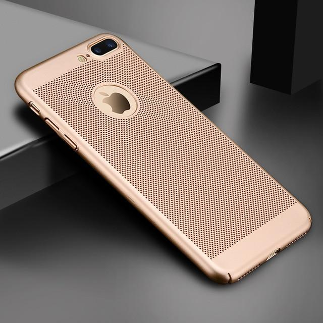 Ultra Slim Phone Case For iPhone 6 6s 7 8 Plus Hollow Heat Dissipation Case Hard PC For iPhone 5 S SE 11 - Rickshaw Journey