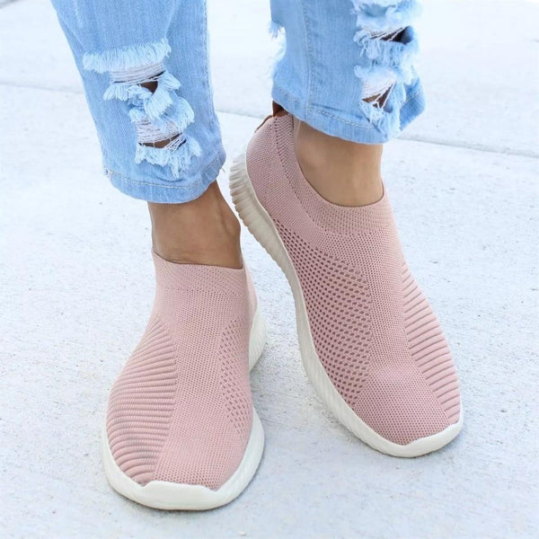 Women Shoes Slip On Sock Shoes Air Mesh Sneakers - Rickshaw Journey