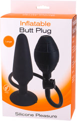 Inflatable Butt Plug- Large (Black)