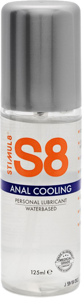 S8 Cooling WB Anal Lube 125ml