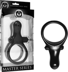 The Mystic Vibrating Cock Ring With Taint Stimulator (Black)