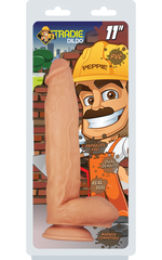 "Tradie Dildo - Peppie 11"" Flesh"