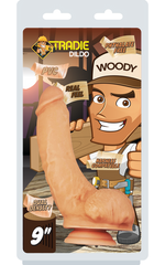 "Tradie Dildo - Woody 9"" Flesh"